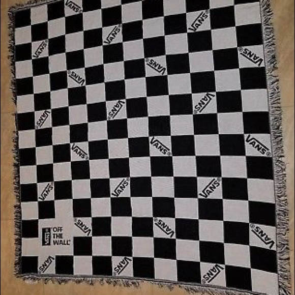 72e9466a14 VANS OFF THE WALL Promotional Check Throw Blanket